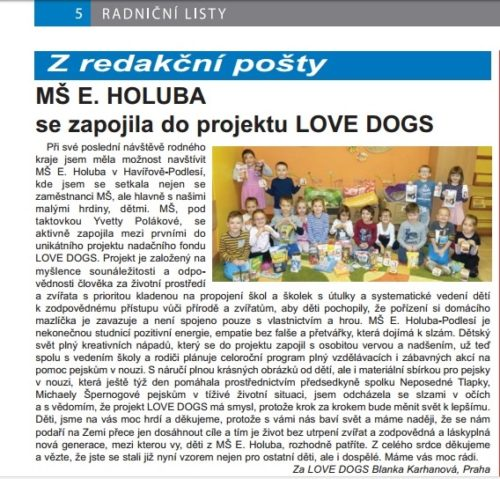 MŠ E. Holuba v Radničních listech